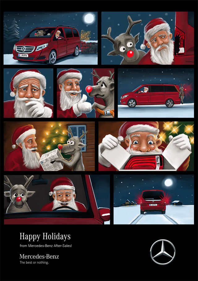 Mercedes-Benz After Sales Weihnachtscomic 2016